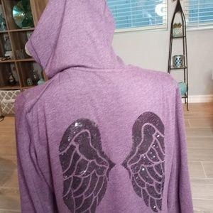 Victoria Secret Women's Hoodie Jacket Sequin M